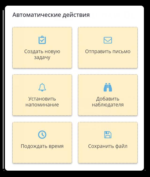 Автоматические этапы в задаче